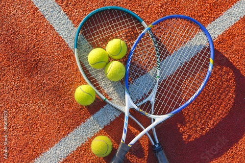 Tennis, Tennis Ball, Backgrounds. Poster