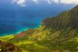 View on Na Pali Coast on Kauai island on Hawaii
