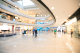 Asia shopping mall blurred for background