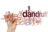 Dandruff word cloud poster