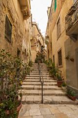 Narrow lane in Vittoriosa, Malta