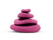 Pink pebbles rendered isolated
