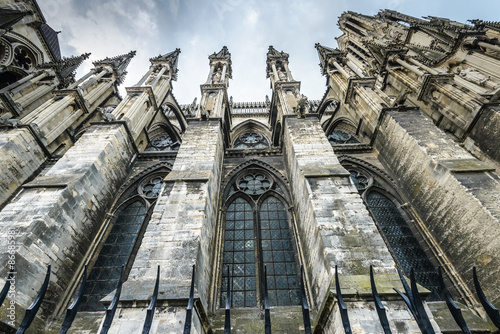 Reims (Marne, Champagne-Ardenne, France) - Exterior of the cathedral in gothic style, . © dannywilde