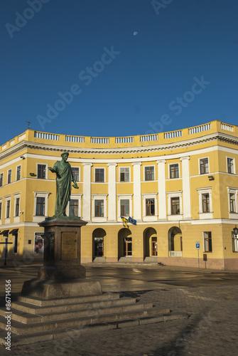 Statue Duc Richelieu in Odessa Poster