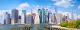 Lower Manhattan skyscrapers, panoramic view, New York