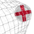 roleta: English soccerball in net. Image with clipping path