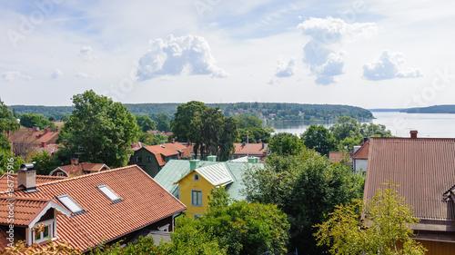 Staande foto Stockholm Cityscape of Sigtuna, Sweden