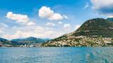 Lugano city on the mountain Bre, SWitzerland