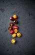 Assorted varieties of cherry tomato