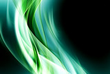 Creative Light Green Fractal Waves Art Abstract Background