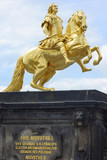 Gold Monument of Frederick Augustus II, King of Saxony. poster