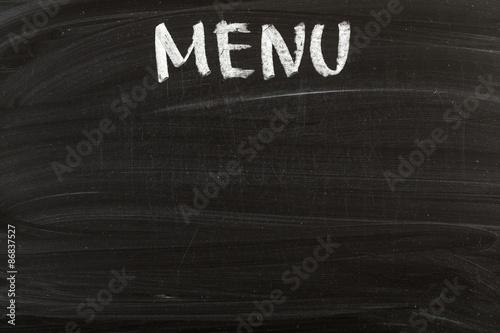 Menu, Blackboard, Restaurant. Poster