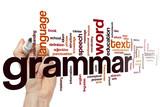 Fototapety Grammar word cloud