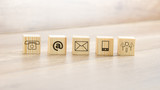 Wooden Blocks with Assorted Contact Illustrations