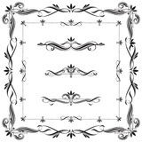 Set of Calligraphic frames and elements