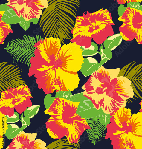 Obraz na Szkle floral pattern