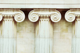 Three antique columns in doric style