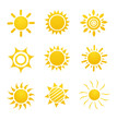 Set of glossy sun images - 86913134