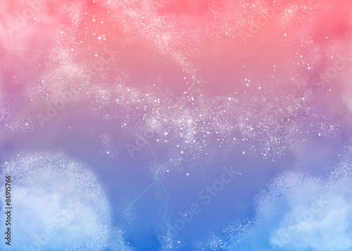 Fototapeta ふわふわピンクの空 Fluffy Pink Sky