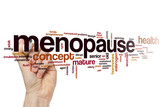 Menopause word cloud poster