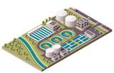 Fototapety Vector isometric water treatment plant