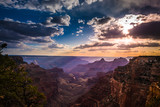 grand canyon north rim cape royal přehlédnout při západu slunce