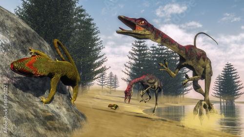 dinozaury-compsognathus-3d-render