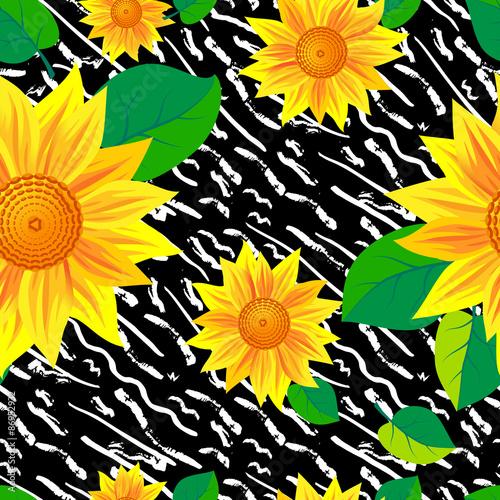 Staande foto Kunstmatig Hand drawn painted seamless pattern.