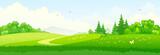 Green landscape banner