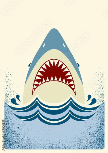 Fototapeta Shark jaws.Vector color illustration