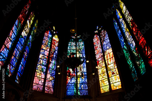 stained glass in saint etienne de metz cathedral france buy photos ap images detailview. Black Bedroom Furniture Sets. Home Design Ideas