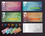 Fototapety Voucher design template