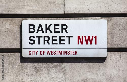 Poster Baker Street Sign in London