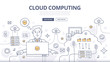 Cloud Computing Doodle Concept
