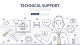 Technical Support Doodle Concept