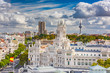 Obrazy na płótnie, fototapety, zdjęcia, fotoobrazy drukowane : Madrid, Spain cityscape with Communication Palace and Torrespana Tower.