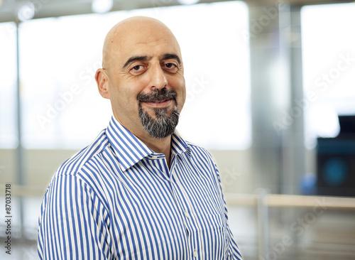 obraz PCV Portret mężczyzny uśmiechnięta