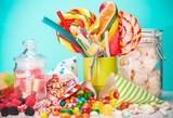 Fototapeta Sweet, sugar, bags.