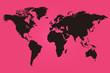 Pink and black world map illustration