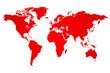 Red World Map Illustration