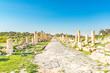Roman ruins at Umm Qais in northern Jordan.