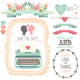 Fototapety Wedding Vintage Typewriter