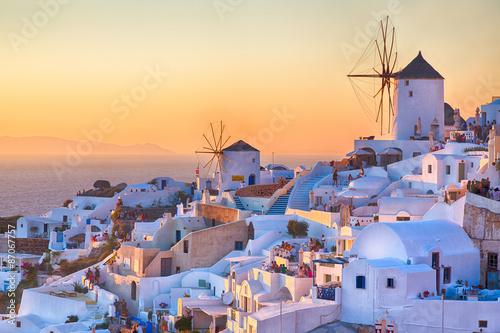 Zdjęcia na płótnie, fototapety na wymiar, obrazy na ścianę : Oia Sunset, Santorini island, Greece