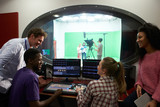 Fototapety Students On Media Studies Course In TV Editing Suite