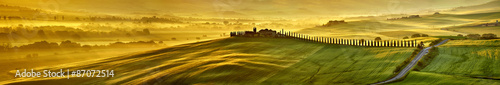 mata magnetyczna Hi res megapiksela wzgórz Toskanii panoramę