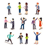 Fototapety Several People Isometric, Vector