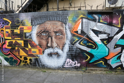 Poster LONDON,GREAT BRITAIN - MAY: Street art on May 30, 2015 in Central London, is a new art trend and growing in popularity through art tours