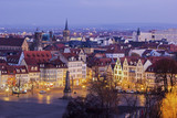 Fototapety View on Erfurt in Germany