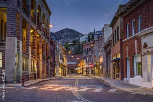 Deurstickers Arizona Old Town Bisbee Arizona at Night