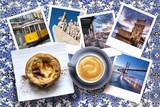 Fototapety Pastéis de nata Portugal avec un café